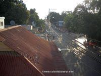 morning Deysi Hermenos Hotel Balcony spider webs Neiba