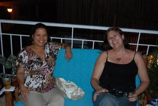 Maribel and Janette at Hostal Nomadas inaguration party