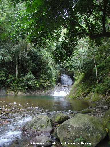 picture/image Jarabacoa rio and waterfall