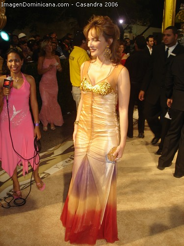 milagros german wearing a jorge diep design at casandra awards 2006