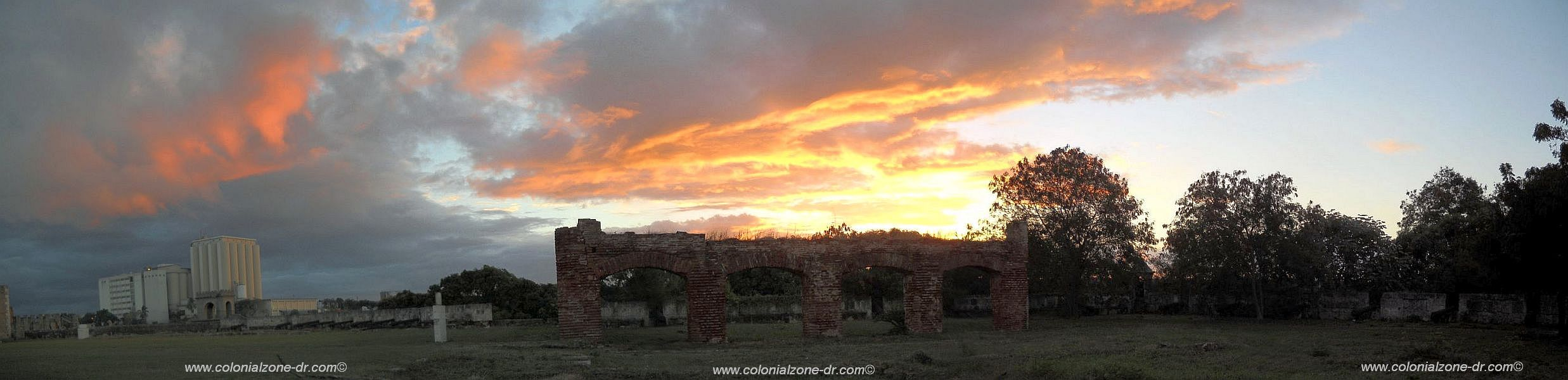 fire skies over the fort ozama in the colonial zone santo domingo
