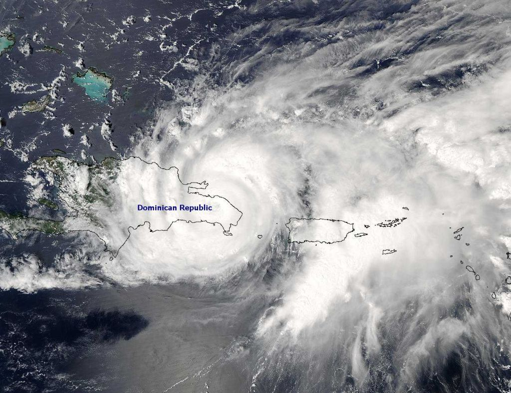 tropical storm jeanne over dominican republic