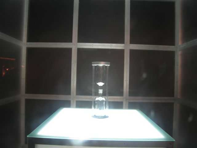 Absolut Ceballos Absolut Art cube holding sand clock