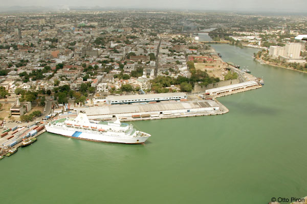 the old port of santo domingo aerial view