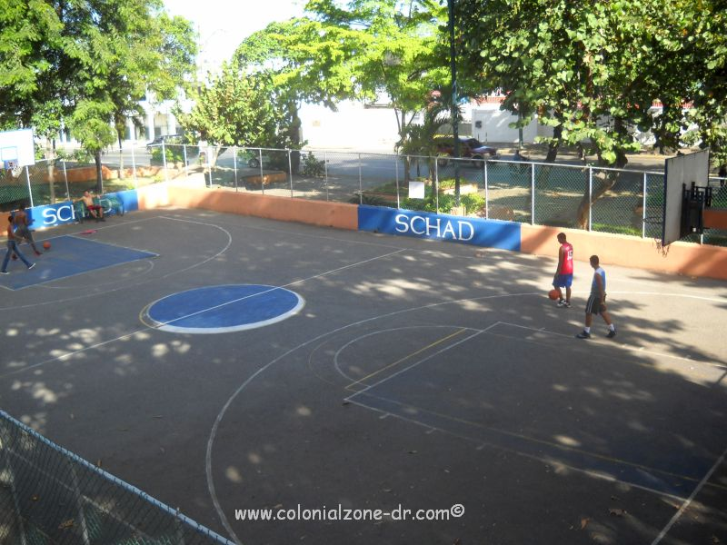 basketball court at fort san jose front of montecino in colonial zone