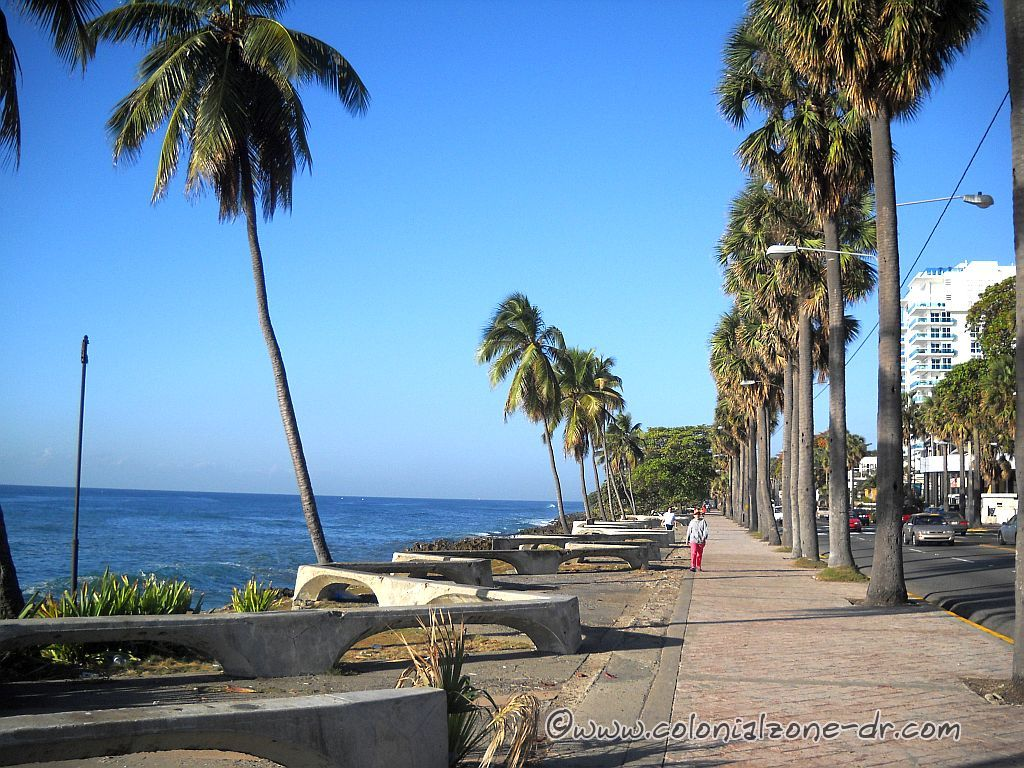 The Malecon seaside road along the Caribbean Sea in Santo Domingo