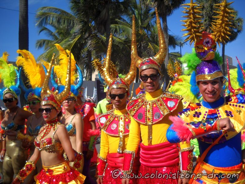 Los Ali Baba in their bright costumes