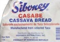 package of casabe / cassava bread