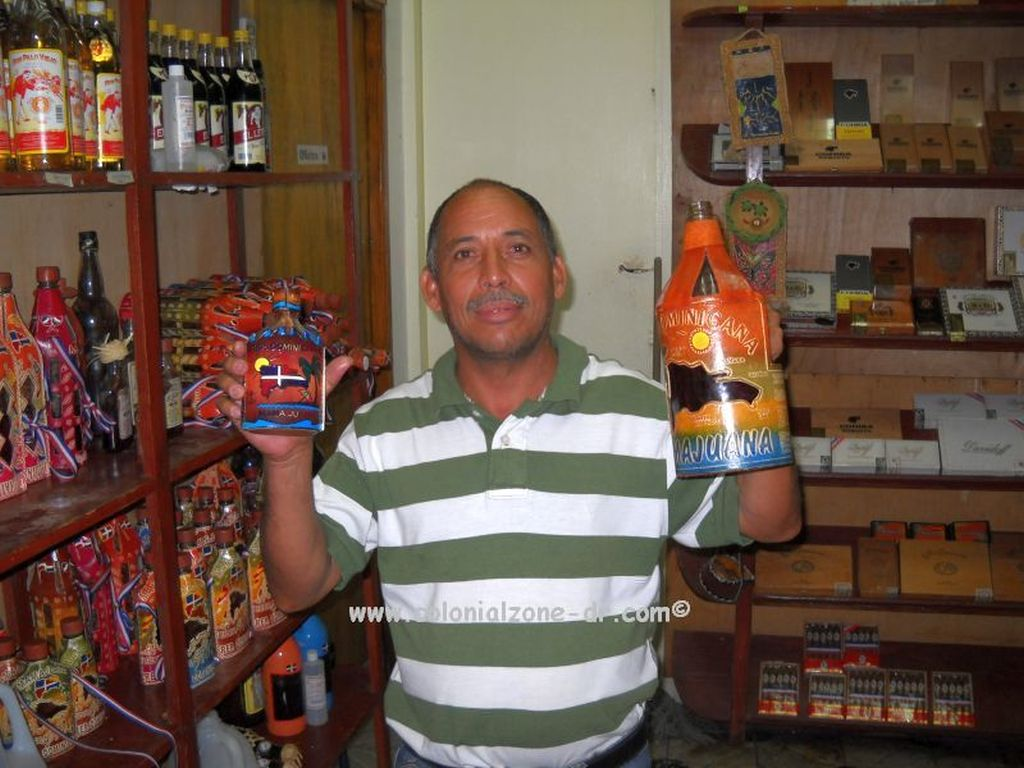 mamajuana for sale in a dominican gift shop