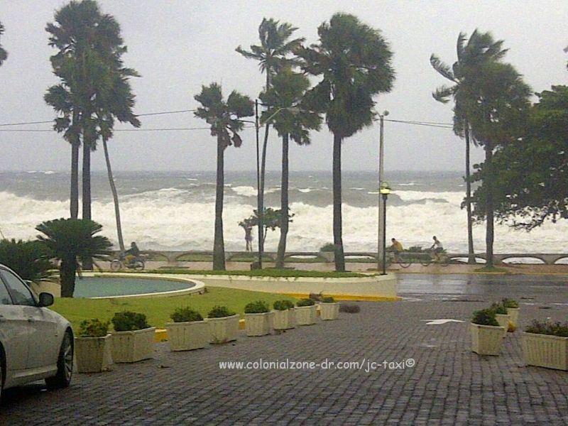 Hurricane Issac as seen from the Malecon, Santo Domingo in front of the Jaragua Hotel8-2012