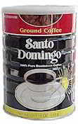 can of cafe santo domingo coffee