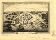 1755 map of the walled city of santo domingo, colonial zone