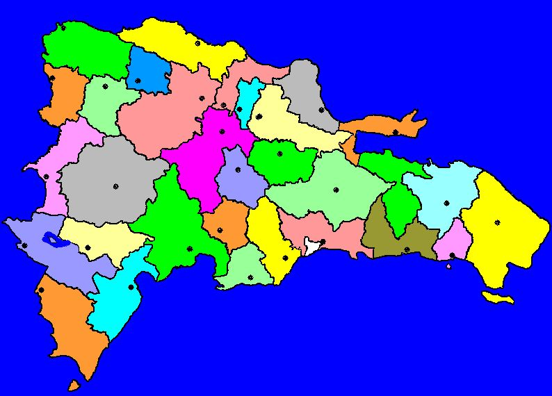 Road Trip Dominican Republic Cities Map on