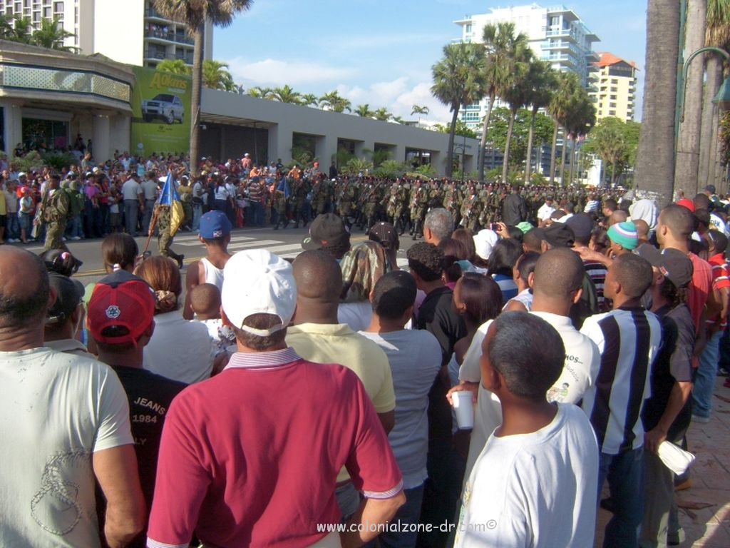 military parade on the Malecon