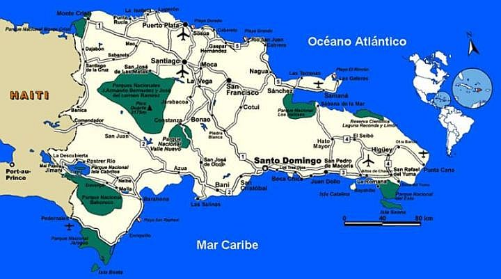 map of national parks and reserves in dominican republic