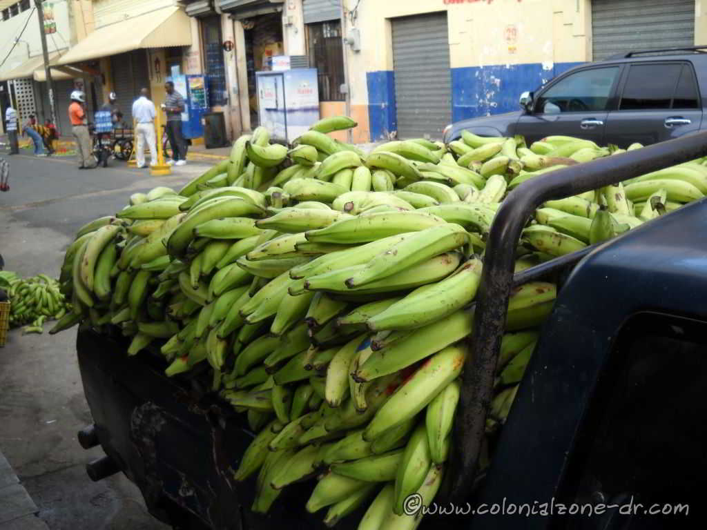 Plantains - Platano in tha back of a truck at market