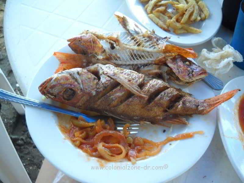 fried fish usually available on the beachs of dominican republic