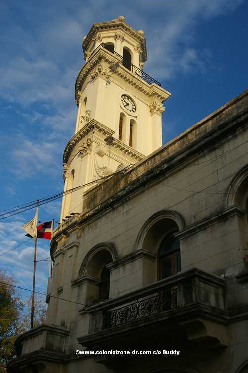 bell tower of palacio consistorial in colonial zone