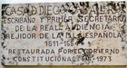 sign on the casa diego caballero colonial zone