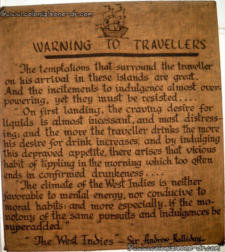 warning to travelers exerpt from book by hallady account of the west indies