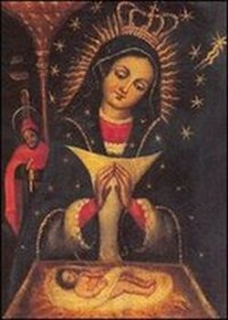 The painting of the Virgen de la Altagracia