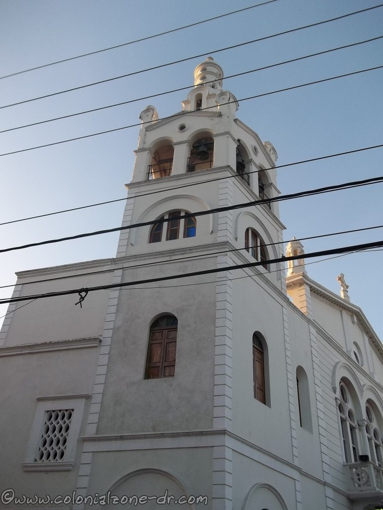 The exterior tower of the Iglesia Nuestra Señora de la Altagracia, Colonial Zone