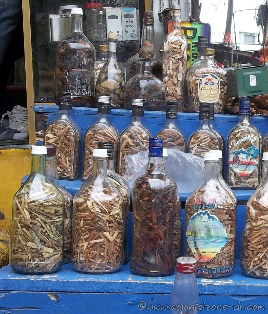 Mamajuana being sold in the market in Dominican Republic