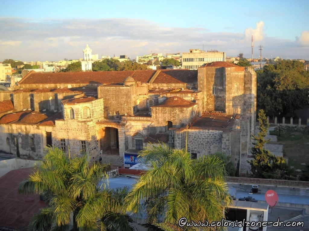 Aerial view of the back of the Cathedral of Santo Domingo