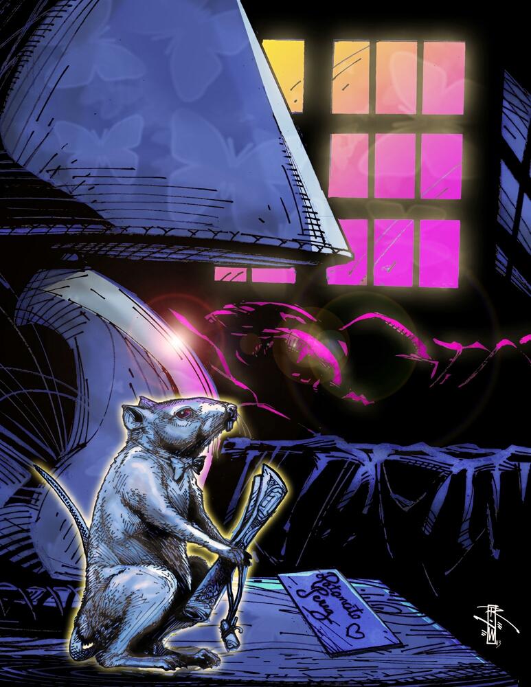 Interpretation of Ratoncito Pérez by Artist-Illustrator Ray Wu