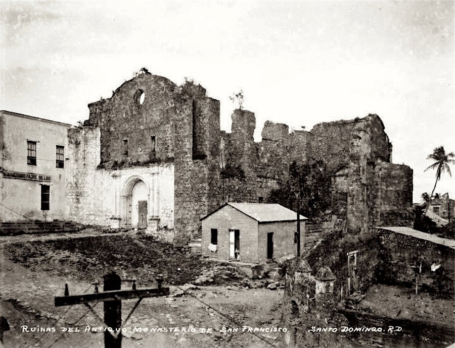 Ruinas del  Monasterio de San Francisco in the 1930's