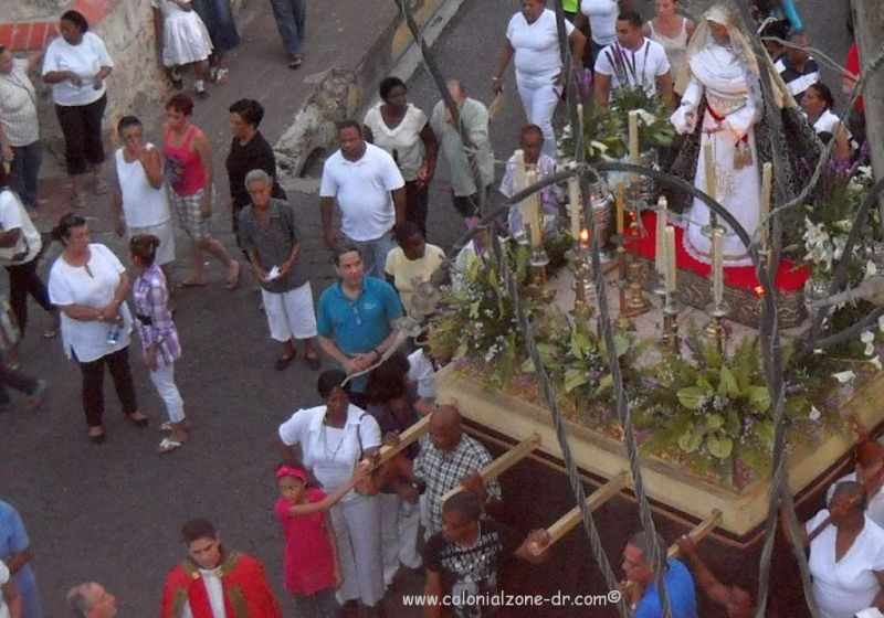 The statue of the Virgin Mary /Altagracia in the Semana Santa procession in Ciudad Colonial.