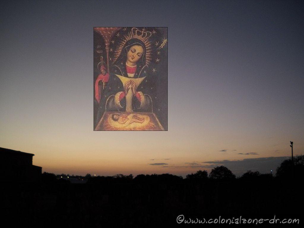 Our Lady de Altagracia/ Nuestra Señora de la Altagracia watching over Ciudad Colonial