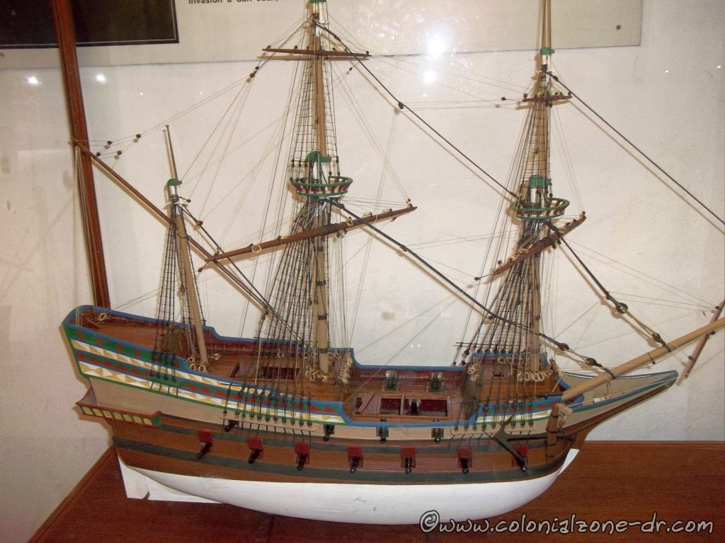 Replica of one of the ships Columbus arrived in.