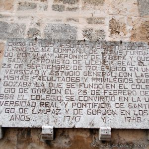 Casa de los Jesuitas plaque on wall