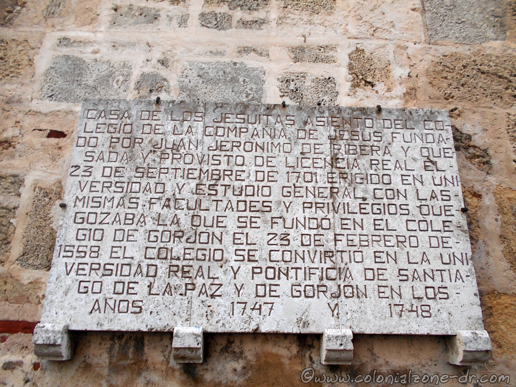 Casa de los Jesuitas plaque on wall