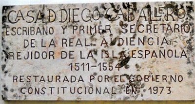 The sign on Casa Diego Caballero