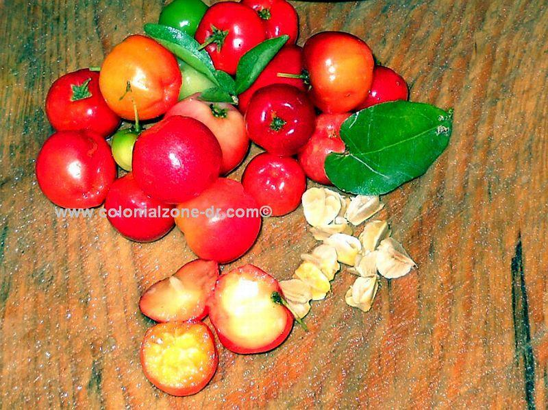Cereza cherries and seeds