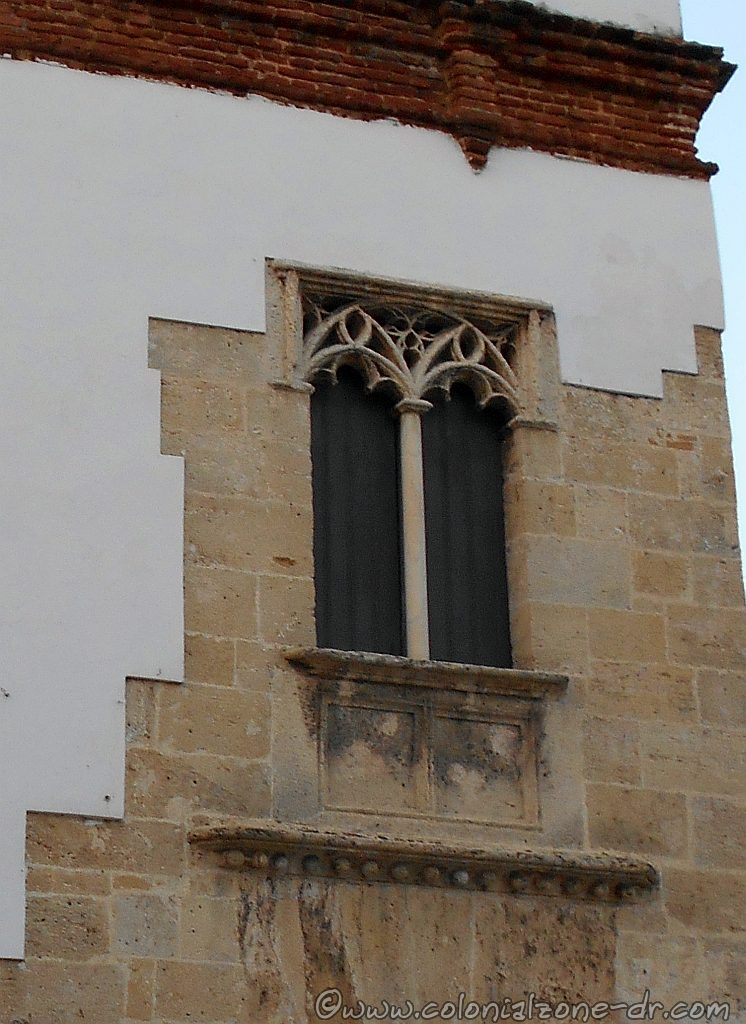 The famous, one of a kind window of Casa del Tostado.