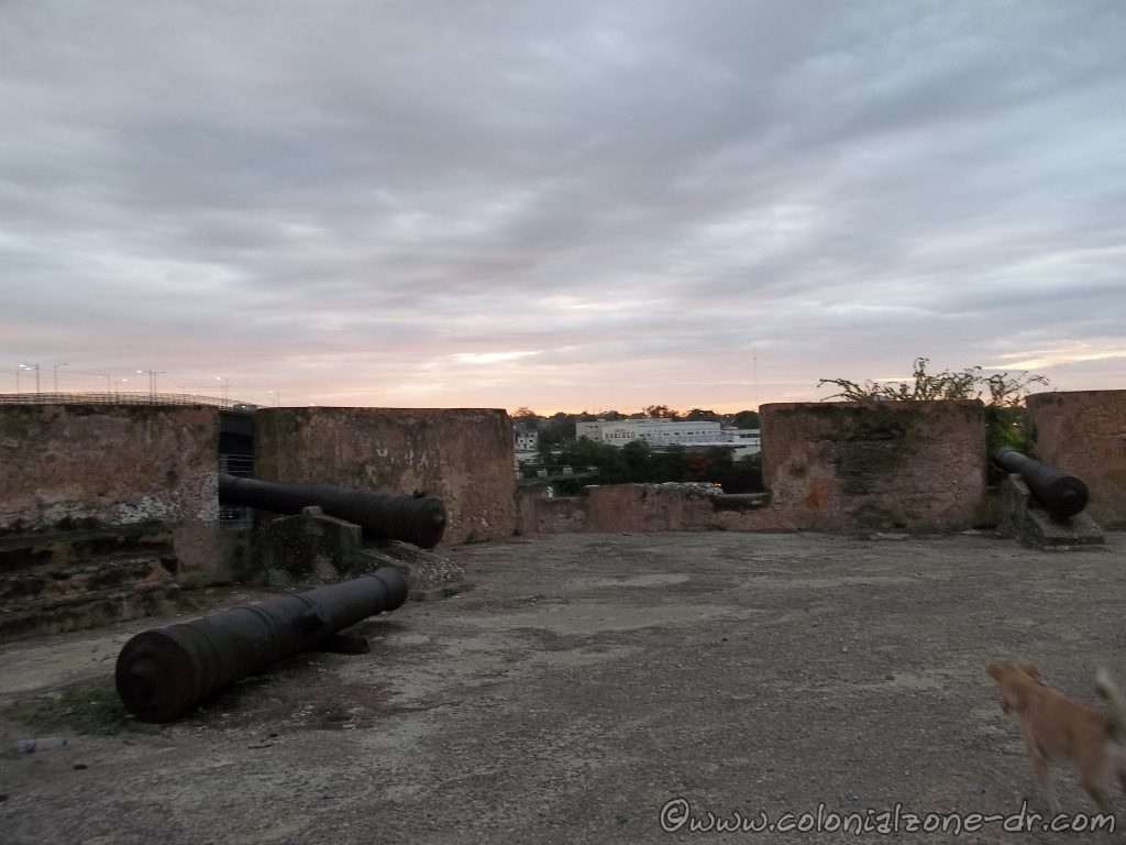 Fuerte de Santa Bárbara shooting platform cannons
