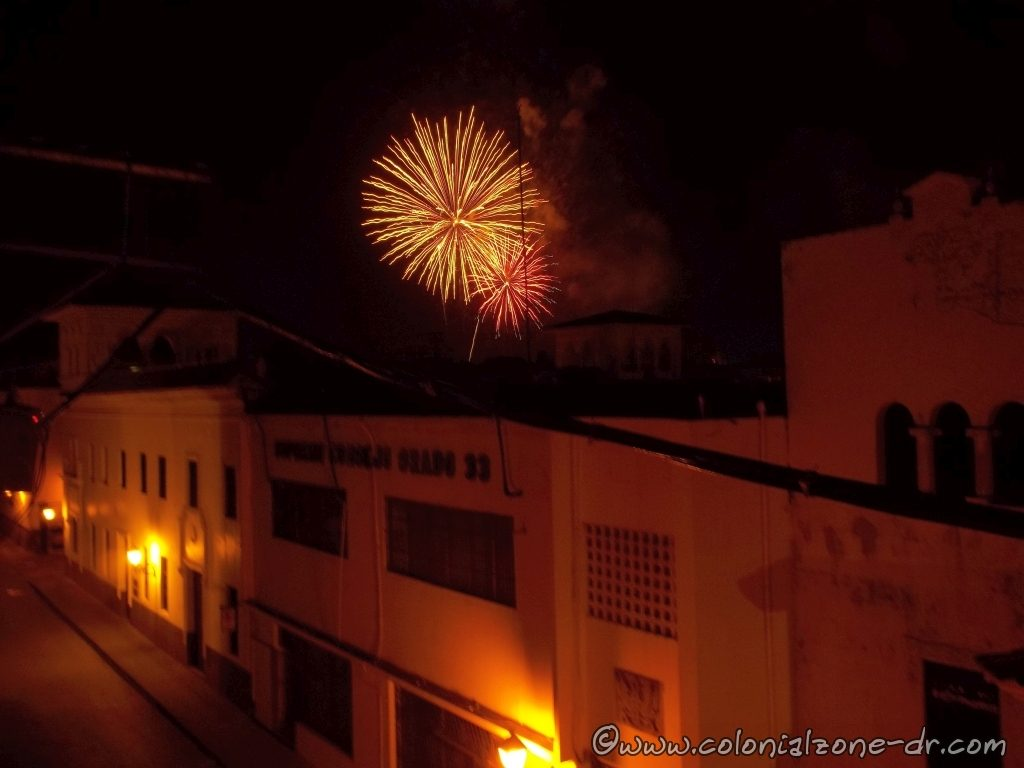 christmas eve fireworks over the colonial zone - Christmas In Dominican Republic