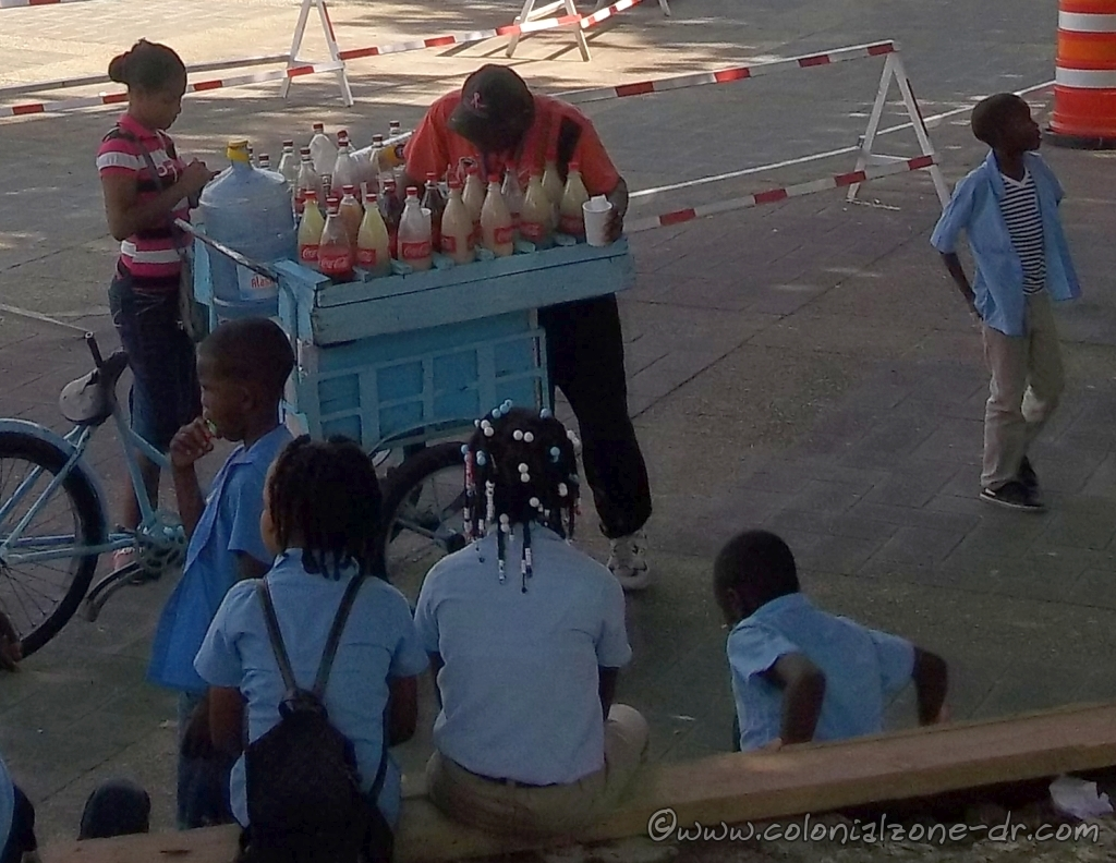 Kids getting their Frio-Frio