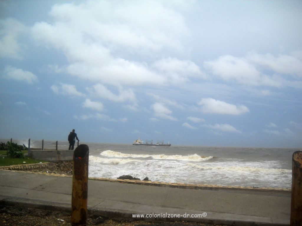 The Malecon during hurricane Sandy