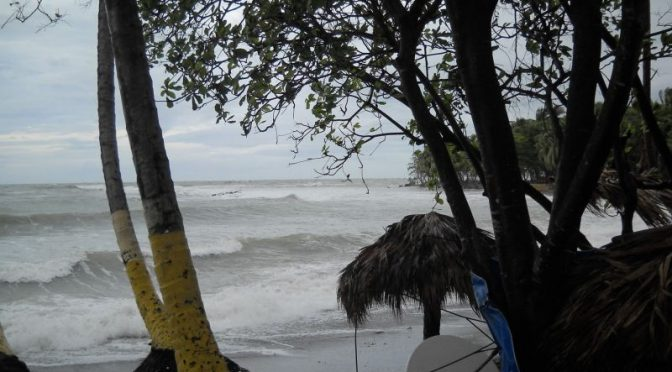 Playa Palenque during Hurricane Sandy. October 25, 2012