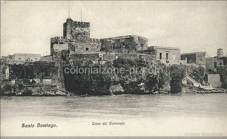 Fortaleza Ozama as seen from Rio Ozama in 1910.