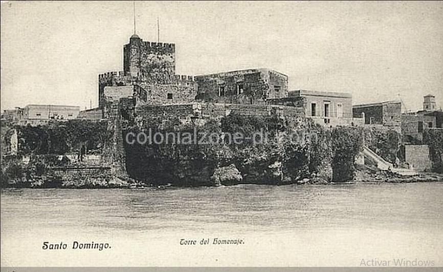Fortaleza Ozama as seen from Rio Ozama in 1910.
