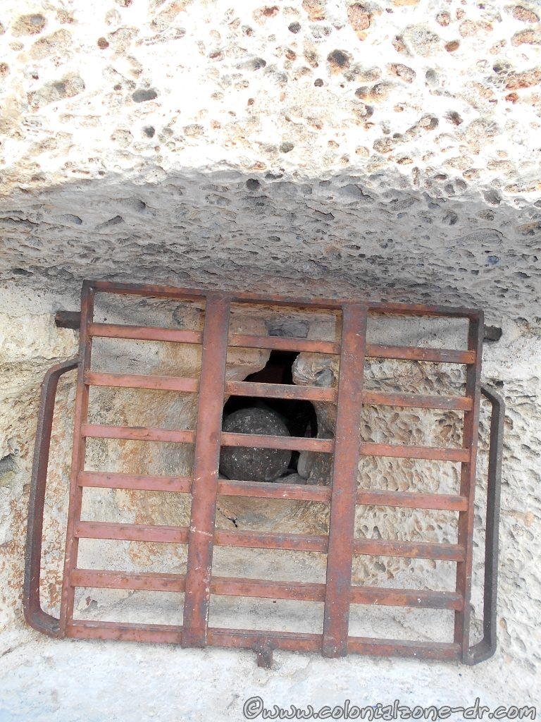 In the outside wall of Fortaleza Ozama hear the main entrance is a Cannonball embedded in the wall.