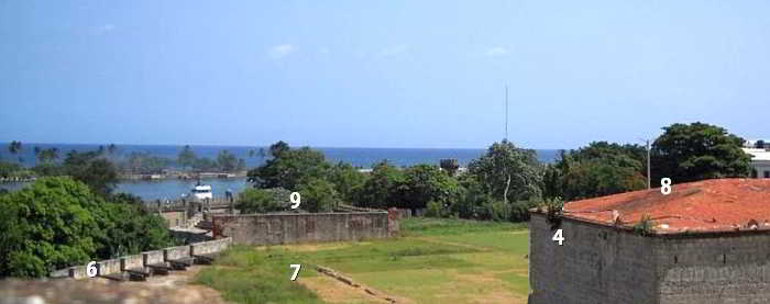 Map Inside Fortaleza Ozama Numbered 1