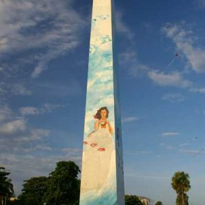 The Obelisco Macho, located on the Malecon is Santo Domingo, was dedicated in 1997 to the Hermanas Mirabal