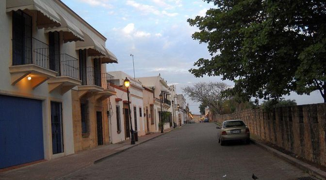 Calle-Las-Damas-along-the-wall-of-Fortaleza-Ozama