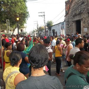 Festival San Miguel- People fill the streets of the San Miguel sector of the Ciudad Colonial.
